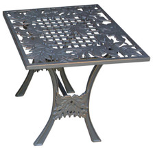 Leaf Iron End Table | Painted Sky | TIE-LV