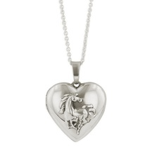 Horse Heart Locket Necklace | SP238 | Kabana