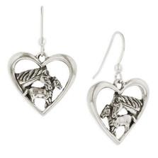 Horse Heart Earrings Sterling Silver | R-E616 | Kabana