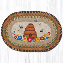 Bee and Hive Oval Braided Rug | Capitol Earth Rugs | OP-468