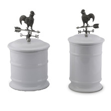 Rooster Weathervane Stoneware Canister Set of 2 | Vagabond House | G273WR-G263WR-1