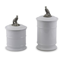 Pheasant Stoneware Canister Set of 2 | Vagabond House | B273PH-B263PH-1