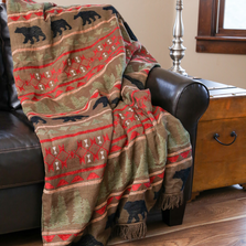 "Bear Chenille Throw ""Bear Country"" 