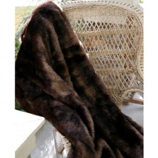 "Bear Faux Fur Throw ""Brown Bear"" 