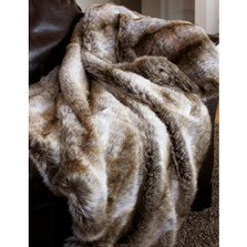 Chinchilla Faux Fur Throw | Carstens | JB3020