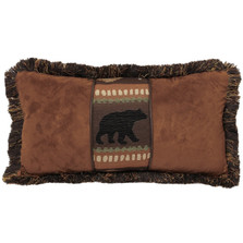 Bear Faux Suede Leather Throw Pillow| Carstens | JB4159
