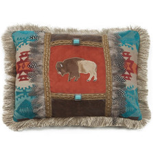 Buffalo Feather Applique Throw Pillow | Carstens | JB6143