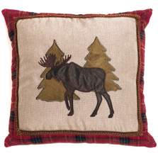 Moose and Tree Applique Throw Pillow | Carstens | JB6556