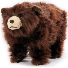 "Shaggy Brown Bear Footstool ""Griz"" 