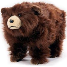 "Shaggy Brown Bear Footstool ""Griz""   Carstens Friendly Footstool   SB102"