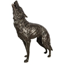 Wolf Bronze Life Size Outdoor Statue