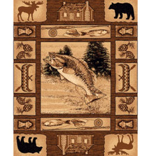 Fish Lodge Area Rug | Persian Weavers | L-363