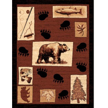 Bear Tracks Lodge Area Rug | Persian Weavers | L-366
