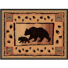 Bear and Cub Lodge Area Rug | Persian Weavers | L367