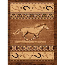 Running Horse Lodge Area Rug | Persian Weavers | L-372