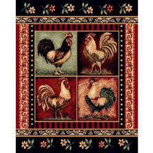 Rooster Lodge Area Rug | Persian Weavers | L-379