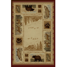 Bear Fish Deer Wilderness Area Rug | Persian Weavers | W-750