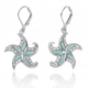 Starfish Sterling Silver Larimar Earrings | Beyond Silver Jewelry | NEA3222-LAR