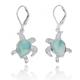 Turtle Sterling Silver Larimar Drop Earrings   Beyond Silver Jewelry   NEA3139-LAR