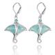 Stingray Sterling Silver Larimar Drop Earrings   Beyond Silver Jewelry   NEA3318-LAR