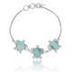 Turtle Sterling Silver Larimar Bracelet | Beyond Silver Jewelry | NB1451-LAR