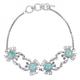 Crab Sterling Silver Larimar Bracelet | Beyond Silver Jewelry | NB1436-LAR