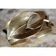 Antique Gold Brass Leaf Cuff Bracelet | Elaine Coyne Jewelry | NASG77BC