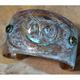 Owl Patina Brass Cuff Bracelet with Jade   Elaine Coyne Jewelry   OWO147CF