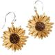 Sunflower Wire Drop Earrings | Michael Michaud Jewelry | SS4956bzbd
