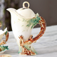 Giraffe Porcelain Teapot | FZ00759 | Franz Porcelain Collection