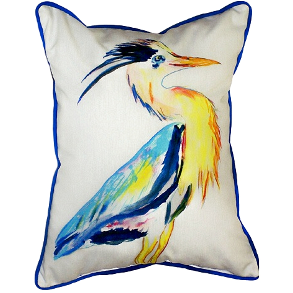 Great Blue Heron Indoor Outdoor Pillow 20x24 Indoor Outdoor Pillow