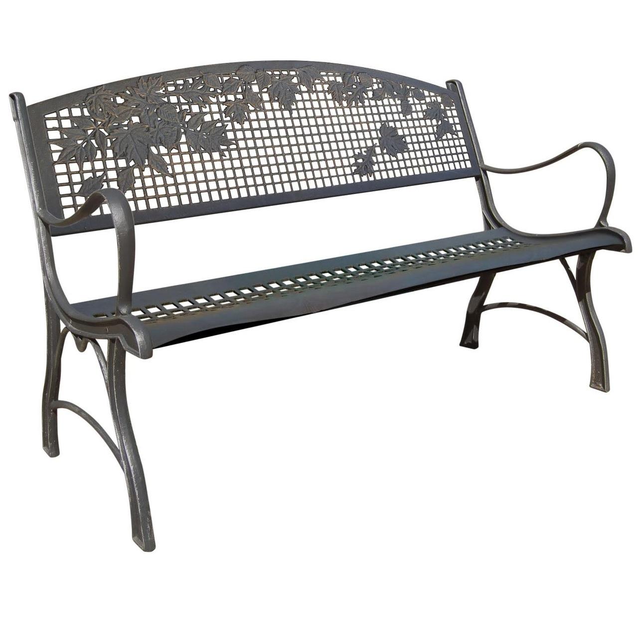 Sensational Leaf Cast Iron Garden Bench Dailytribune Chair Design For Home Dailytribuneorg