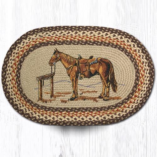 Horse Oval Braided Rug Capitol Earth Rugs Jute Area Rug