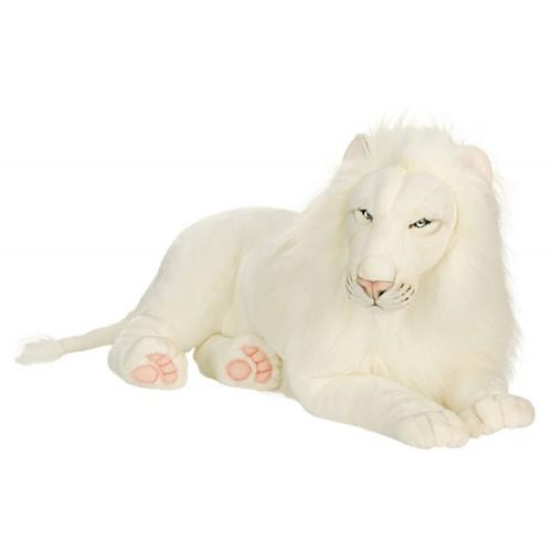 White Lion Large Stuffed Animal Lion Plush Hansa Toys