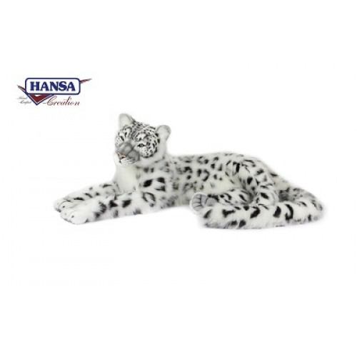 Snow Leopard Jacquard Large Stuffed Animal Leopard Plush Toy