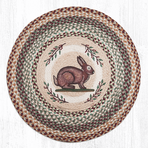 Rabbit Round Braided Rug Rabbit Jute Round Area Rug