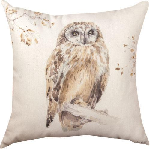 Owl Indoor Outdoor Throw Pillow Climaweave Manual Woodworkers