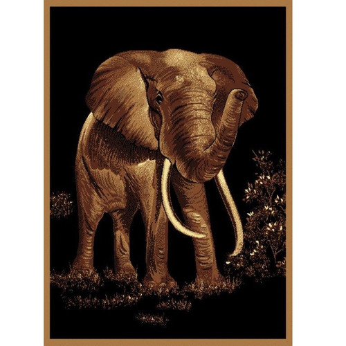 Elephant Rug Area Home Decor