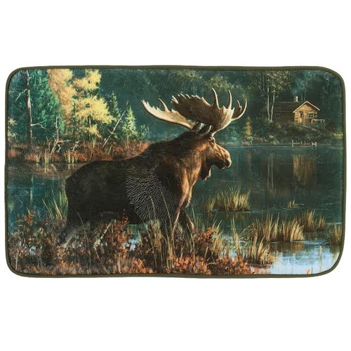 Back Bay Moose Bath Rug Bed Bath Decor