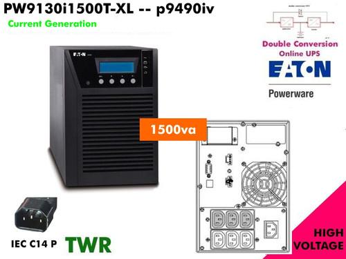 PW9130i1500T-XL ~ 1500va Powerware Online 9130 (230v -Tower International)  Refurb