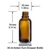 30 ml Amber Euro Bottle