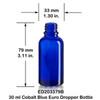 30 ml Blue Euro Bottle w/ Dropper