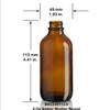 4 oz Amber Boston Round Bottle