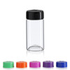 Wide Mouth Glass Vial w/ Cap - 27 x 57 mm