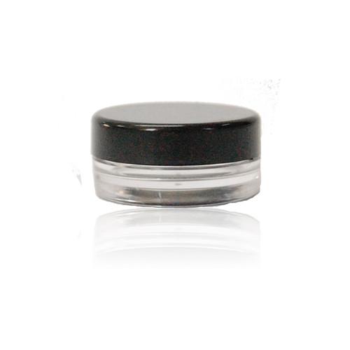 Polystyrene Sample Jar w/ Black Cap
