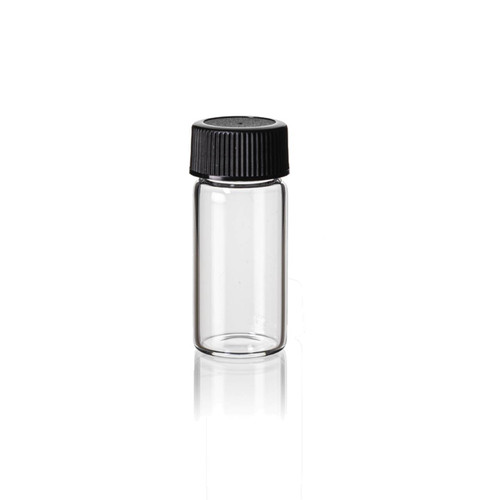 2 1/3 Dram Clear Glass Vial w/ Cap