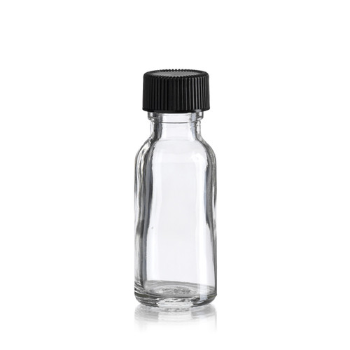 1/2 Ounce Boston Round Bottle - 25 x 70 mm - Includes Cap!