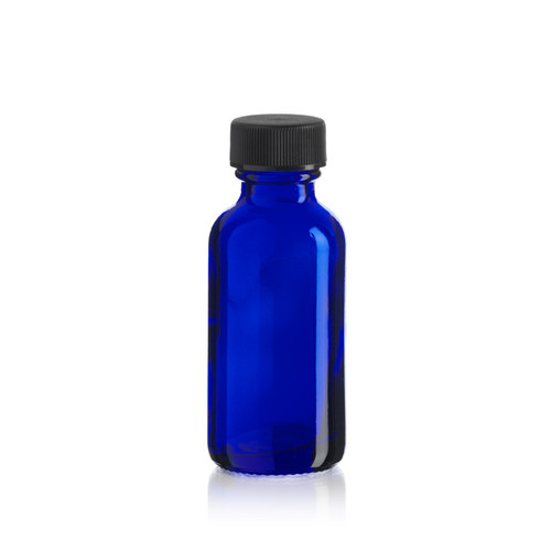 1 Ounce Cobalt Blue Boston Round w/ Cap