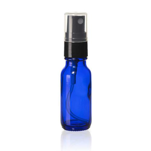 1/2 Ounce Cobalt Blue Boston Round Bottles w/ Sprayer