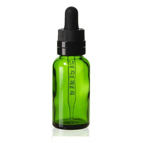 30 ml Green Euro Bottle w/ Graduated Super Dropper